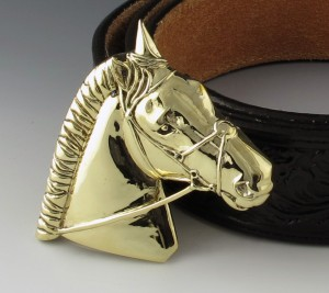 Gold Horse Head Buckle