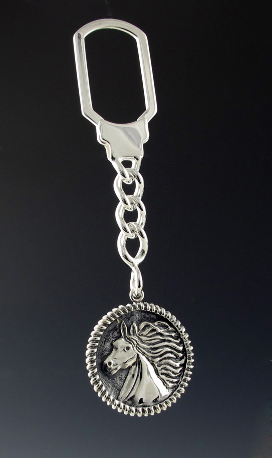 Sterling Silver Equestrian Key Chain