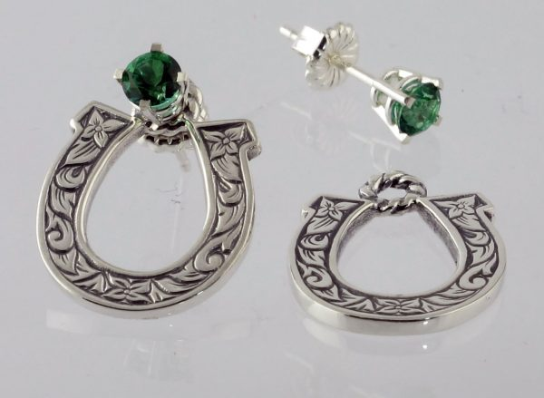 Earring Jackets Sterling Horseshoes