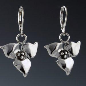 TRILLIUM DROP EARRINGS - SILVER | Mary Ann Archer