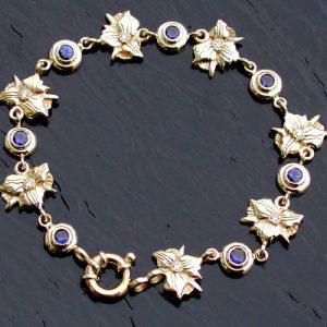 Trillium, Diamond and Sapphire Bracelet | Mary Ann Archer