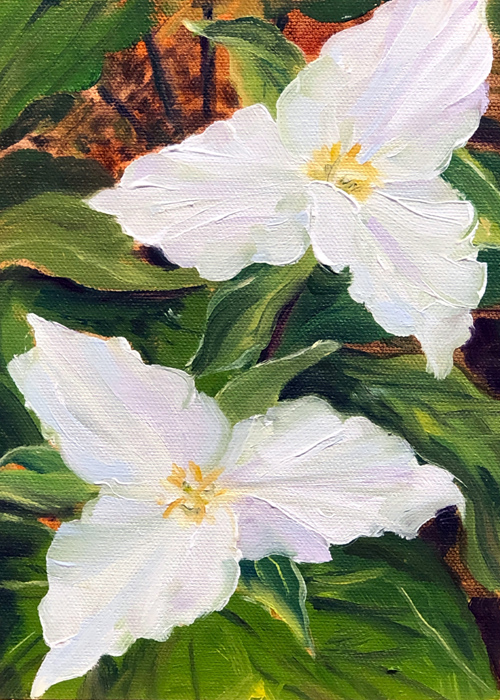 """Trillium Duo"" Notecard 