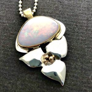 Trillium and Opal Pendant | TT Pendant | Mary Ann Archer
