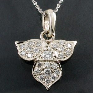 Diamond Pave Trillium Pendant 14KW | Mary Ann Archer